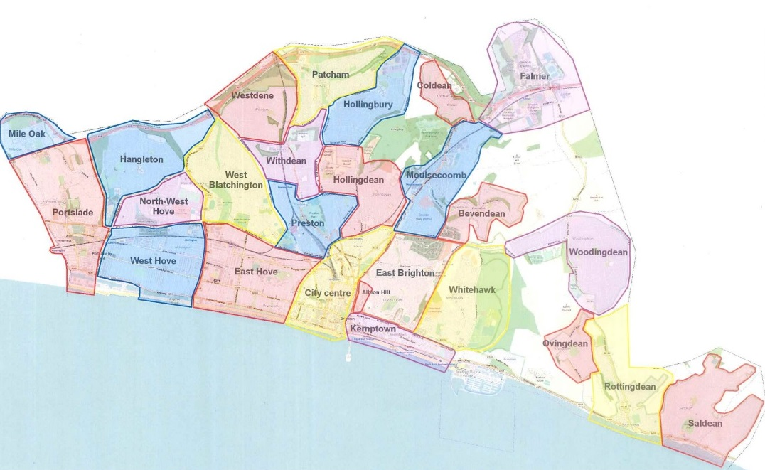 Brighton Areas Map